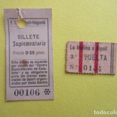 Coches y Motocicletas: FERROCARRIL RIPOLL PUIGCERDA - UNICOS - RAREZA LA MOLINA - ESTUDIO OFERTA EN PREGUNTAS AL VENDEDOR. Lote 255563440