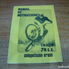 Coches y Motocicletas: MANUAL DE INSTRUCCIONES DERBI 74 CC. Lote 255925100