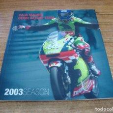 Coches y Motocicletas: LIBRO CAJA MADRID DERBI RACING TEAM 2003 SEASON. Lote 255925415