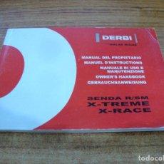 Coches y Motocicletas: MANUAL DEL PROPIETARIO DERBI SENDA R/SM X-TREME X-RACE. Lote 255925990