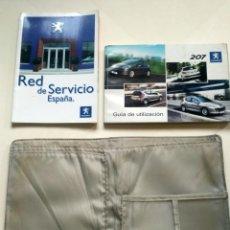 Coches y Motocicletas: PEUGEOT 207 (AÑO 2008). LIBRO GUÍA UTILIZACIÓN Y RED SERVICIO + CARPETA. Lote 257859750