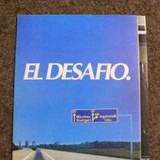 Coches y Motocicletas: FOLLETO PUBLICIDAD INSERTADA RENAULT 21-2 L.TURBO.EL DESAFIO.AÑO 1987. Lote 257877040