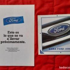Coches y Motocicletas: 2 CATÁLOGOS GAMA FORD . 91 Y 96 (FIESTA, N. FIESTA, ESCORT, ORION, SIERRA, MONDEO, SCORPIO, PROBE,.). Lote 177658570