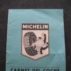 Coches y Motocicletas: CARNET DEL COCHE PARA RENAULT DAUPHINE. NEUMATICOS MICHELIN AÑO 1960. Lote 258509210