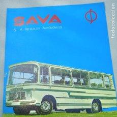 Coches y Motocicletas: TRIPTICO. SAVA. GAMA DE MICROBUSES Y AUTOCARES. 1969.. Lote 261693820