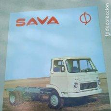 Coches y Motocicletas: HOJA PUBLICITARIA. SAVA. CAMION S-511. ENASA. Lote 261694155