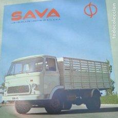 Coches y Motocicletas: HOJA PUBLICITARIA. SAVA. CAMION S-411. ENASA. Lote 261694430