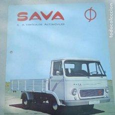 Coches y Motocicletas: HOJA PUBLICITARIA. SAVA. CAMION 211 - 221. ENASA. Lote 261694875