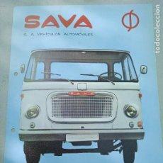 Coches y Motocicletas: HOJA PUBLICITARIA. SAVA. CAMION SH 400 / SH 550. ENASA. Lote 261695090