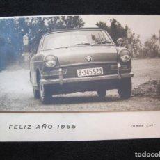 Coches y Motocicletas: COCHE BMW-JORGE CHI-RALLYE-FELIZ AÑO 1965-FELICITACION ANTIGUA-VER FOTOS-(K-2725). Lote 261832250
