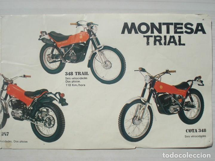 Coches y Motocicletas: Catálogo Publicidad Folleto Publicitario Oficial Moto Motocicletas Montesa Trial Trail Cota 1977 - Foto 3 - 262644725