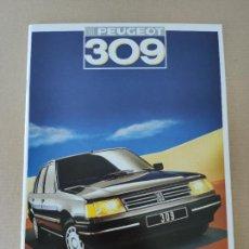 Coches y Motocicletas: PEUGEOT - CATALOGO 1987 - PEUGEOT 309. Lote 265526959