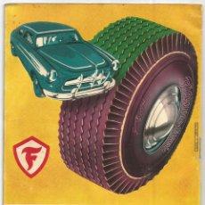 Coches y Motocicletas: FIRESTONE BOLETIN INFORMACION Nº 120 IMAGENES COCHES, MOTOS, GILLETTE 1956 S. E. A. REUS TARRAGONA. Lote 267398144