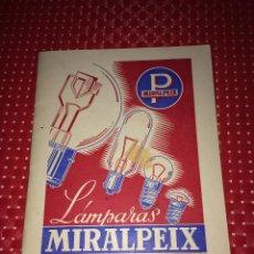 Coches y Motocicletas: CATÁLOGO LAMPARAS MIRALPEIX - BARCELONA - JULIO 1950 - SON LAS MEJORES. Lote 267758294