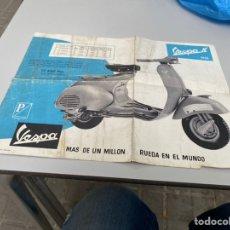 Coches y Motocicletas: FOLLETO CATALOGO ORIGINAL DE VESPA N , (1958). VER FOTOS. Lote 268454619