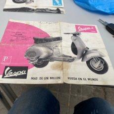 Coches y Motocicletas: FOLLETO CATALOGO ORIGINAL DE VESPA S , (1958). Lote 268455034