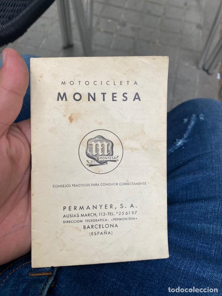 MANUAL MOTOCICLETAS MONTESA CONSEJOS PRÁCTICOS PARA CONDUCIR CORRECTAMENTE . AÑOS 40/50 (Coches y Motocicletas Antiguas y Clásicas - Catálogos, Publicidad y Libros de mecánica)