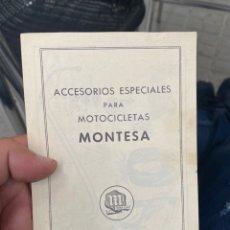 Coches y Motocicletas: ACCESORIOS ESPECIALES PARA MOTOCICLETA MONTESA AÑOS 40 /50. Lote 268457184