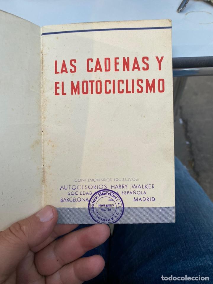 Coches y Motocicletas: Manual de instrucciones las cadenas y el motociclismo años 1947 - Foto 3 - 268458754