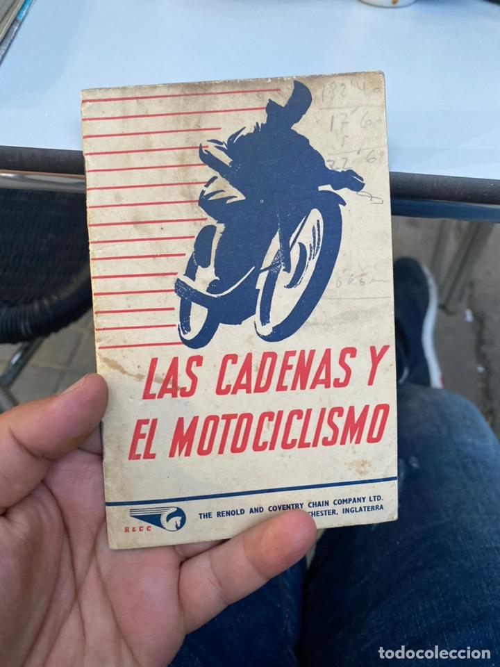 MANUAL DE INSTRUCCIONES LAS CADENAS Y EL MOTOCICLISMO AÑOS 1947 (Coches y Motocicletas Antiguas y Clásicas - Catálogos, Publicidad y Libros de mecánica)