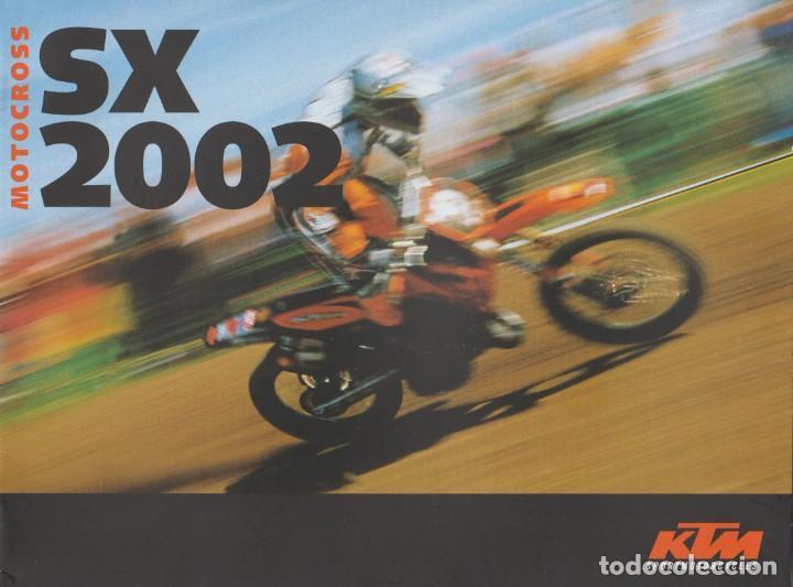 CATÁLOGO KTM MOTOCROSS SX 2002 (Coches y Motocicletas Antiguas y Clásicas - Catálogos, Publicidad y Libros de mecánica)