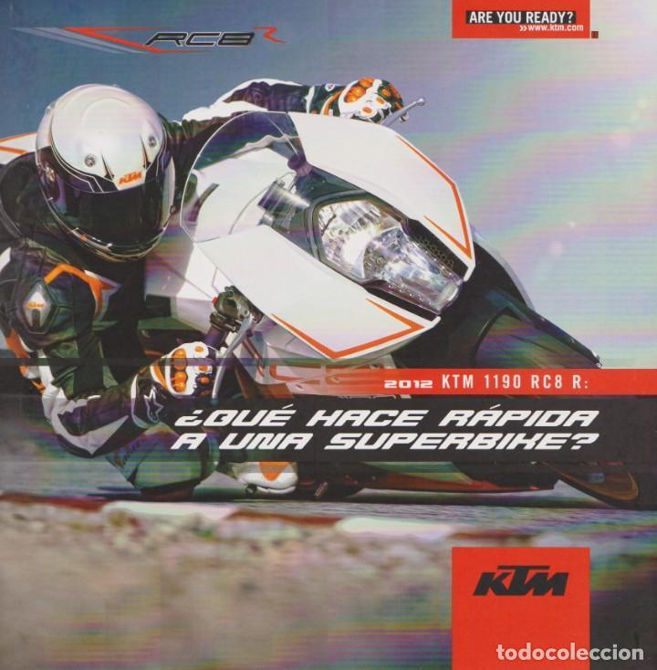 CATÁLOGO KTM RC8 R 1190 2012 (Coches y Motocicletas Antiguas y Clásicas - Catálogos, Publicidad y Libros de mecánica)