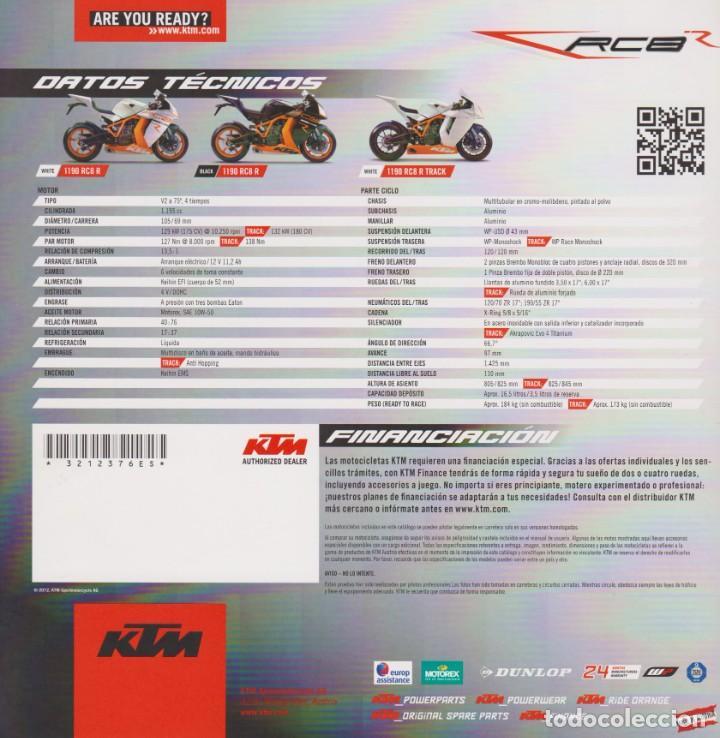 Coches y Motocicletas: CATÁLOGO KTM RC8 R 1190 2012 - Foto 2 - 268598124
