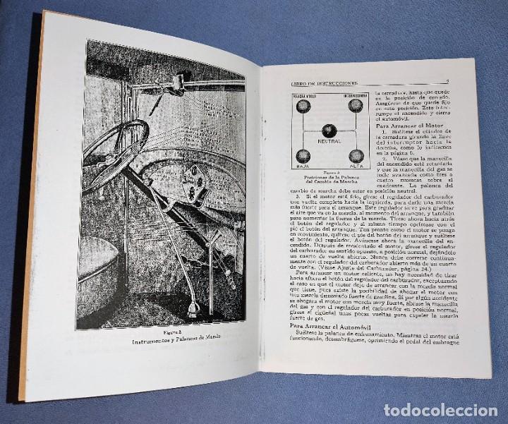 Coches y Motocicletas: LIBRO DE INSTRUCCIONES DEL FORD MODELO A AÑO 1928 FACSIMIL DEL ORIGINAL - Foto 2 - 268600524