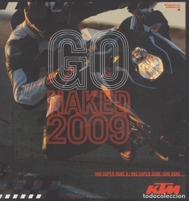 CATÁLOGO KTM NAKED 2009 DUKE & SUPER DUKE (Coches y Motocicletas Antiguas y Clásicas - Catálogos, Publicidad y Libros de mecánica)