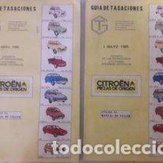 Coches y Motocicletas: GUÍA DE TASACIONES CITRÖEN / 2 EJEMPLARES 1985 / 1 ABRIL Y 1 DE MAYO 212 PÁGINAS CADA UNO. 14'5 X. Lote 268763209