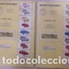 Coches y Motocicletas: GUÍA DE TASACIONES CITRÖEN / 2 EJEMPLARES 1985 / 1 ENERO Y 1 DE FEBRERO 212 PÁGINAS CADA UNO. 14'5. Lote 268763509