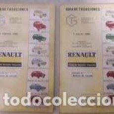 Coches y Motocicletas: GUÍA DE TASACIONES RENAULT / 1 DE ENERO Y 1 DE JULIO 1985 189 Y 224 PÁGINAS . 14'5 X 23 CM.. Lote 268765309