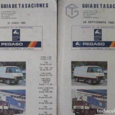 Coches y Motocicletas: GUÍA DE TASACIONES PEGASO / 27 DE JUNIO Y 26 DE SEPTIEMBRE 1985 RESPECTIVAMENTE 327 PÁGINAS CADA UN. Lote 269028809