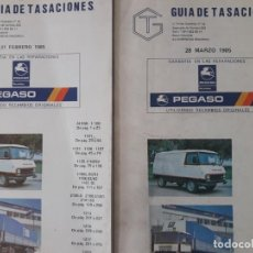 Coches y Motocicletas: GUÍA DE TASACIONES PEGASO / 27 DE FEBRERO Y 28 DE MARZO 1985 RESPECTIVAMENTE 327 PÁGINAS CADA UNO .. Lote 269032185