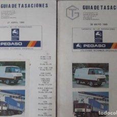 Coches y Motocicletas: GUÍA DE TASACIONES PEGASO / 27 DE ABRIL Y 30 DE MAYO 1985 RESPECTIVAMENTE 327 PÁGINAS CADA UNO . 14. Lote 269032263