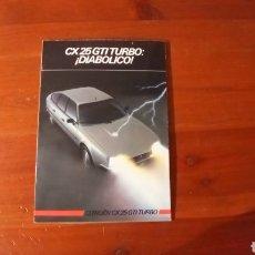 Carros e motociclos: CITROEN CX 25 GTI TURBO. Lote 269087548