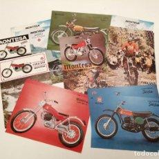 Coches y Motocicletas: LOTE CATALOGOS MOTOS MONTESA (ALGUNOS REPETIDOS), ORIGINALES DE EPOCA. Lote 269109153