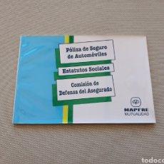 Coches y Motocicletas: MAPFRE LIBRO DE PÓLIZA DE SEGURO DE AUTOMÓVILES. Lote 269255808