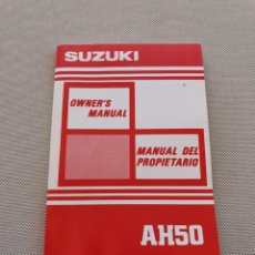 Coches y Motocicletas: SUZUKI AH50 MANUAL PROPIETARIO. Lote 269260758