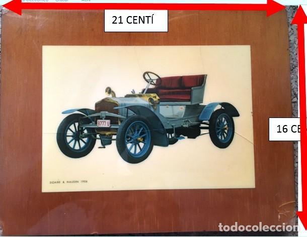 CUADRO FOTOGRAFÍA COCHE ANTIGUO SIZANE-NAUDIN 1906 (Coches y Motocicletas Antiguas y Clásicas - Catálogos, Publicidad y Libros de mecánica)