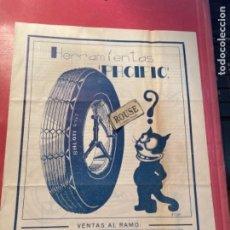 """Coches y Motocicletas: AUTOMÓVILES - ANTIGUO FOLLETO HERRAMIENTAS """"PACÍFICAS"""" AUTOCESORIOS HARRY WALKER -MADRID BARCELONA. Lote 269687798"""