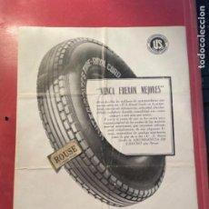 """Coches y Motocicletas: AUTOMÓVILES - ANTIGUO CATÁLOGO NEUMÁTICOS U.S. ROYAL CORD 1928 LA NUEVA CÁMARA """"USTEX"""". Lote 269695683"""