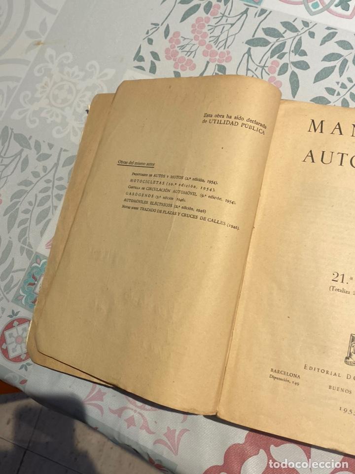Coches y Motocicletas: Manual de automóviles 21 edición 1955 (Manuel Arias-Paz) Editorial Dossat - Foto 9 - 270407248