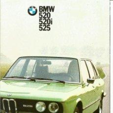 Coches y Motocicletas: BMW 520, 520I, 525 - CATÁLOGO 8 PÁGINAS EN ESPAÑOL, Nº. 3 32 05 002 5, 1975. Lote 270574293