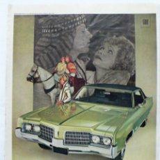 Coches y Motocicletas: PUBLICIDAD OLDSMOBILE NOVENTA Y OCHO.HOJA REVISTA LIFE 1969. Lote 274764208