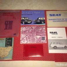 Carros e motociclos: SEAT 124 D - VERSION 5 PUERTAS - BOLSA CON LA DOCUMENTACIÓN COMPLETA - AÑO 1977 - SIN USO. Lote 276064728