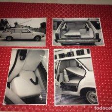Carros e motociclos: SEAT AMBULANCIA - LOTE DE 4 FOTOGRAFÍAS ORIGINALES - AÑOS 70 - CARROCERÍAS MIRSAN - JÁTIVA. Lote 276208398