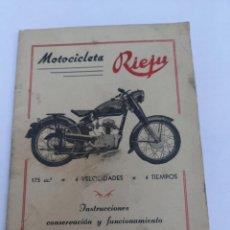Carros e motociclos: MANUAL MOTOCICLETA RIEJU 175CM 4 VELOCIDADES 4 TIEMPO EN BUEN ESTADO. Lote 276399473