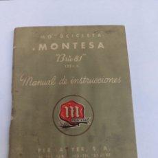 Carros e motociclos: MANUAL MOTOCICLETA MONTESA BRIO 81 SEÑALES DEL PASO DE LOS AÑOS 48 PAG.. Lote 276399948