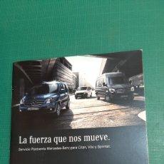 Coches y Motocicletas: CATALOGO MERCEDES BENZ LA FUERZA QUE NOS MUEVE SERVICIOS POSTVENTA CASTELLANO. Lote 276922678